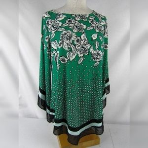 Alfani Size 0X Handkerchief Hem Top Blouse NWT